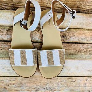 Kelsi Dagger Natural and white sandals size 9